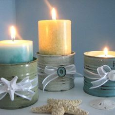candles in tin cans#Repin By:Pinterest++ for iPad#