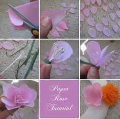 DIY or Don't!: Tutorial: Tissue Paper Flowers, rose