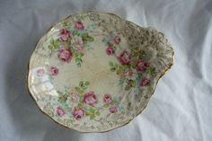 Antique James Kent Chintz Shell Dish, Treasury Item