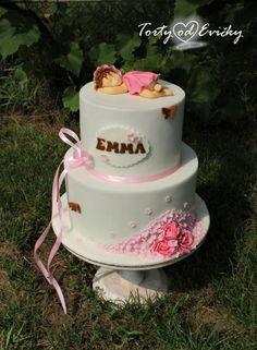 Krstinová torta, Autorka: Torty od Evičky Cake, Desserts, Food, Tailgate Desserts, Deserts, Kuchen, Essen, Postres, Meals