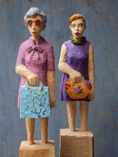 Wood sculpture - Edekafrauen - Kristina Fiand