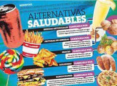 Alternativas Saludables #Infografía #Alimentación #Salud