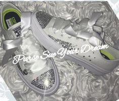 c32c0e9109e0 Custom Swarovski Crystal Bridal Converse Wedding Shoes - Swarovski Crystal  Wedding Shoes - Swarovski Rhinestone Converse