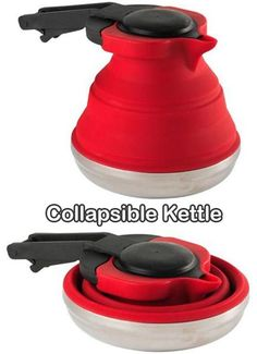 Collapsible cooking pot!  How great is this for camping!?!  What a space saver!