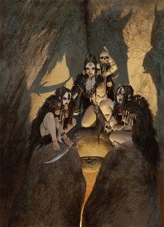 goddessoftheblackcoast:  bear1na:  Art by Adrian Smith *  My clan