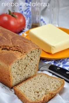 niebo na talerzu: Najłatwiejszy chleb.Heaven on a plate: The easiest bread Bread Maker Recipes, Cake Recipes, Baguette, Polish Recipes, Bread Rolls, Bread Baking, Food To Make, Bakery, Food And Drink