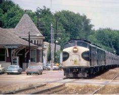 Southern Railway Depot on Greensboro Avenue Photo Print Railroad Pictures, Railroad History, Southern Railways, Railroad Photography, Norfolk Southern, Train Art, Covered Wagon, Diesel Locomotive, Bridges