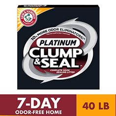 ARM & HAMMER Clump & Seal Platinum Cat Litter is the World's Best Cat Litter for Odor Control. It's specially formulated to seal and destroy pet odors. Visit our website to learn more. Paper Cat Litter, Clay Cat Litter, Best Cat Litter, Litter Pan, Discount Pet Supplies, Online Pet Supplies, Clumping Cat Litter, Pet Odors, Cool Cats