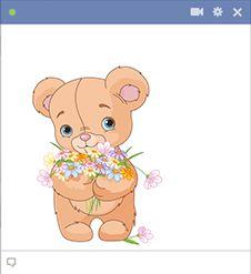 Peluche con flores