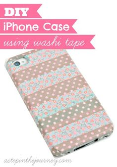 DIY iPhone Case using washi tape