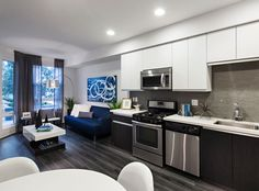 Model apartment at AMLI Lex on Orange, a luxury apartment community in Glendale, CA.