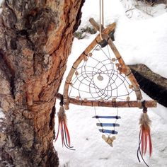 Sacred Vision Dreamcatcher/Raw Kyanite/Real by LunaSageDesigns