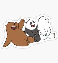 We Bare Bears Sticker Pop Stickers, Cartoon Stickers, Tumblr Stickers, Kawaii Stickers, Printable Stickers, We Bare Bears Wallpapers, We Bear, Bear Wallpaper, Aesthetic Stickers