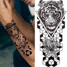 Tribal Tiger Tattoo, Tribal Tattoos, Lion Tattoo, Love Tattoos, Tattoos For Guys, Tattoos For Women, Lion Flower, Skeleton King, Forest Tattoos