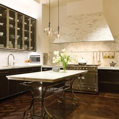 Marble range hood; Mick de Giulio ; one of my all time favorite kitchens