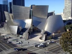 Walt Disney Concert Hall, Frank Ghery. He said he designed it to be like a ship in full sail.