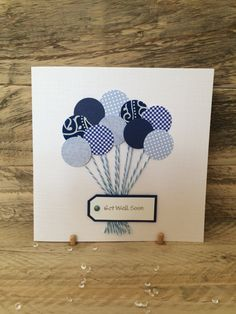 Handmade Get Well Soon Card  get well soon  by ButterflyBoxCards