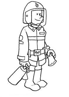 coloring page Fire brigade - Fire brigade