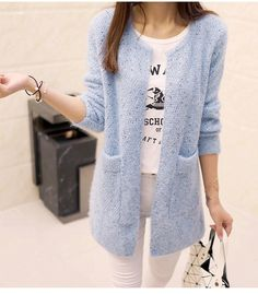 Long Cardigan Women 2017 New Spring Autumn Sweater Women Long Sleeve Knitted  Cardigan Female Tricot Women Clothes Pull Femme 4318a8a4d