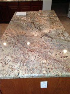 Granite Countertop Backsplash help- to go w/Typhoon Bordeaux granite - Kitchens Forum - GardenWeb Granite Kitchen Counters, Countertop Backsplash, Kitchen Countertop Materials, Stone Countertops, Tan Kitchen, Rustic Kitchen Design, Kitchen Cabinet Remodel, Travertine Tile, Kitchen Ideas