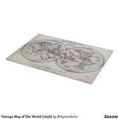 Vintage Map of The World (1848) Cutting Board