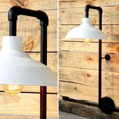 Metal Wall Sconce With White Metal Shade