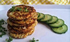 Květákové placičky se slunečnicovým semínkem Salmon Burgers, Baked Potato, Potatoes, Baking, Healthy, Ethnic Recipes, Food, Potato, Bakken
