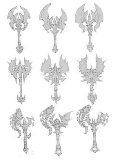 Ninja Weapons, Anime Weapons, Fantasy Weapons, Armor Concept, Weapon Concept Art, Character Art, Character Design, Sword Design, Galaxy Painting