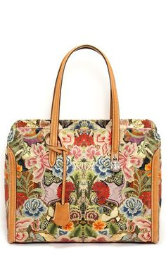 Alexander McQueen 'Padlock' Floral Print Duffel Bag available at #Nordstrom #love