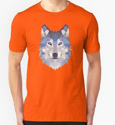 Game Of Thrones Polygonal Dire Wolf   RedBubble Unisex Orange TShirt   All Sizes Available for Men and Women @redbubble