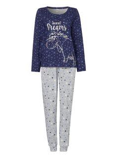 Womens Blue Eeyore Pyjama Set | Tu clothing