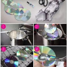 Best 12 Why this insanely cool decor idea using old CD's will definitely give you goosebumps – SkillOfKing. Recycled Cd Crafts, Old Cd Crafts, Vinyl Crafts, Crafts To Make, Fun Crafts, Cd Mosaic, Mosaic Glass, Cd Recycle, Repurpose