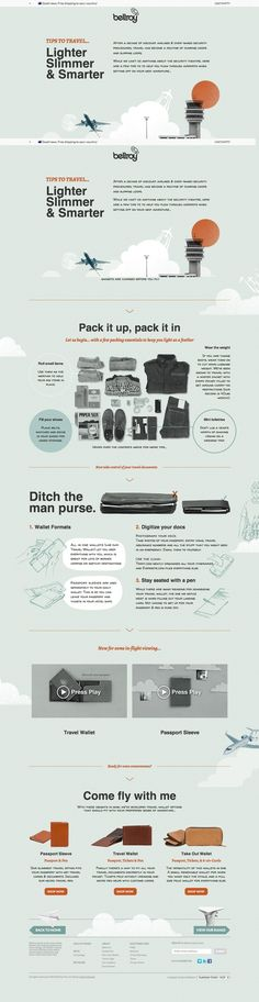 Travel Light - more great advice from Bellroy