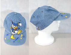 b2569b136c5e mens disney hat. denim hat. donald duck hat. mens baseball hat. mens cap.  snapback hat. 80s hat. jean hat baseball cap