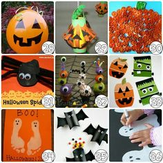 Fun, easy, & affordable Halloween craft for little kids.