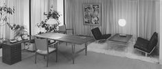 bo-562 and bo-561 in a midcentury modern  executive office