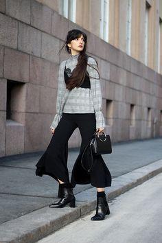 839a5f4f23b Style Inspiration   Paz Halabi Rodriguez Zara Hop Earrings Zara Bra Zara  Bell Sleeves Blouse Zara Flared Pants Zara Black Ring Bag Zara Mid Rise  Boots On ...