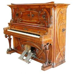 art nouveau piano...a foot pump player piano - love it!