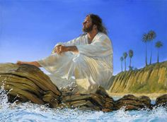 He Went Apart to Pray - Jesus Art The Artwork of Stephen Sawyer