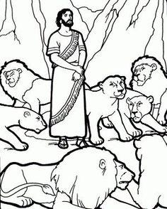 Daniel and the Lions Den Coloring Page: | cakes | Pinterest | Lions ...