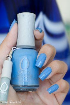 Orly ~ Snowcone (Spring 2010 Sweet Collection) by Cinthia Emerich, via Flickr. #bluecreme #cornflower #bluenailpolish #bluenails
