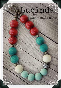 Lucinda Vintage AnthroInspired Adult Necklace by LittleBlackGoose