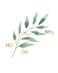 Science Illustration, Medical Illustration, Chemistry Art, Molecule Tattoo, Biology Art, Chemical Structure, Instagram Background, Medical Art, Doctor Gifts