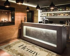 Henny Rug Apartment and home decor accessories for man cave, home bar or game room. Home Bar Rooms, Diy Home Bar, Bars For Home, Home Bar Setup, Man Cave Room, Man Cave Home Bar, Man Cave Bathroom, Man Cave With Bar, Basement Bar Designs