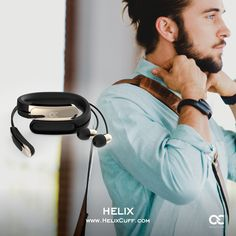 Helix: The World's First Wearable Cuff with Stereo Bluetooth Headphones designed by Former Lead Industrial Designer at Nokia and Nest. www.ashleychloe.com