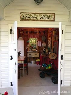 a teacher s dream garden shed, curb appeal, gardening, outdoor living, Welcome to a truly functional potting shed
