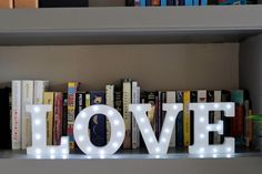 Home Decor Inspiration | Up In Lights Light Up Letters www.upinlights.co.uk