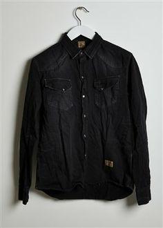 WESTERN HERRINGBONE SHIRT - BLACK Online or in-store - The Allotment Store