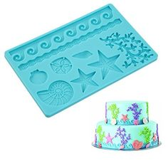 Elinka Fondant Cake Cutter Mold Decorating Plunger Sugarcraft Snowflake Cutter Sea Shell Candy Chocolate Silicone Molds Soap Molds Silicone Baking Molds by Elinka, http://www.amazon.com/dp/B06XJKDW5J/ref=cm_sw_r_pi_dp_x_h4gtzb72VVF1A