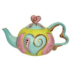 Heart Shaped Teapot Anise by Soizick